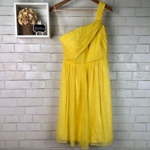 J. Crew | Yellow One Shoulder Dress
